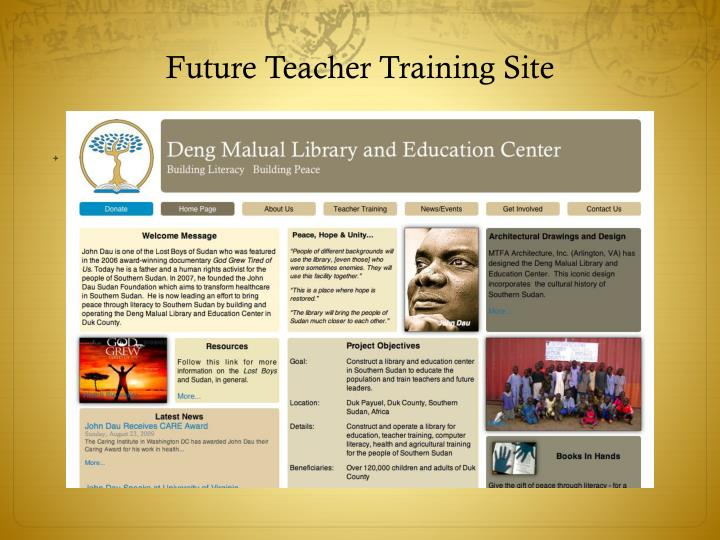 Future Teacher Training Site