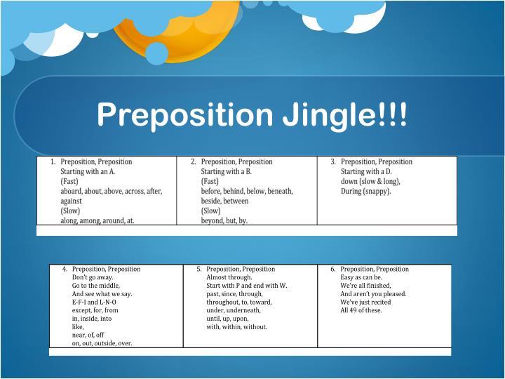 Preposition Jingle!!!