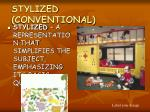stylized conventional