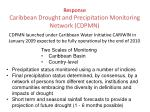 response caribbean drought and precipitation monitoring network cdpmn