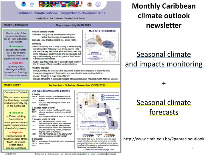 Monthly Caribbean