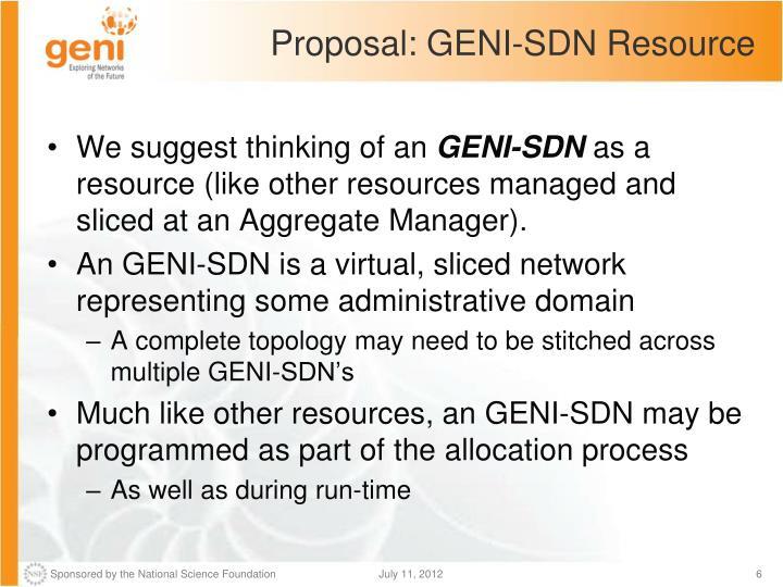 Proposal: GENI-SDN Resource