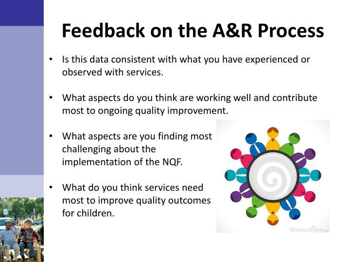 Feedback on the A&R Process