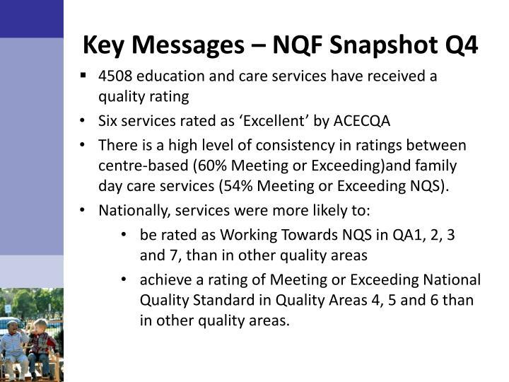 Key Messages – NQF Snapshot Q4