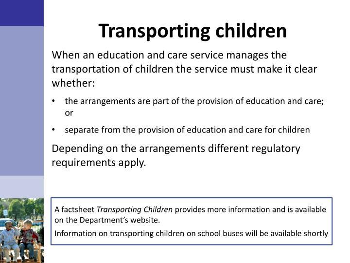 Transporting children