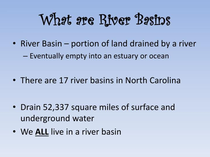 What are river basins