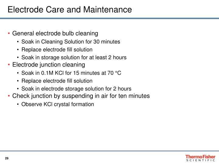 Electrode Care and Maintenance