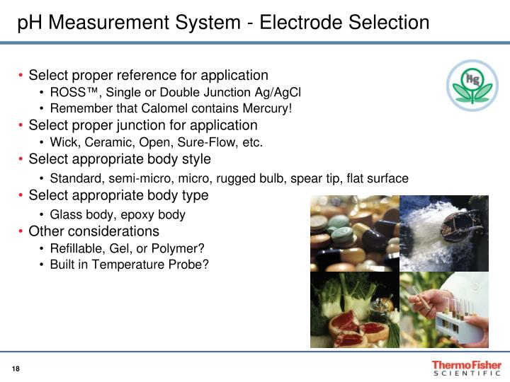 pH Measurement System - Electrode Selection