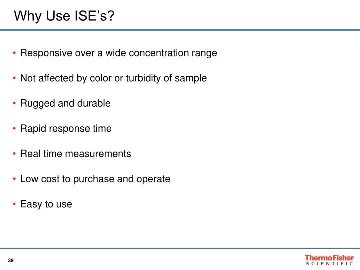 Why Use ISE's?