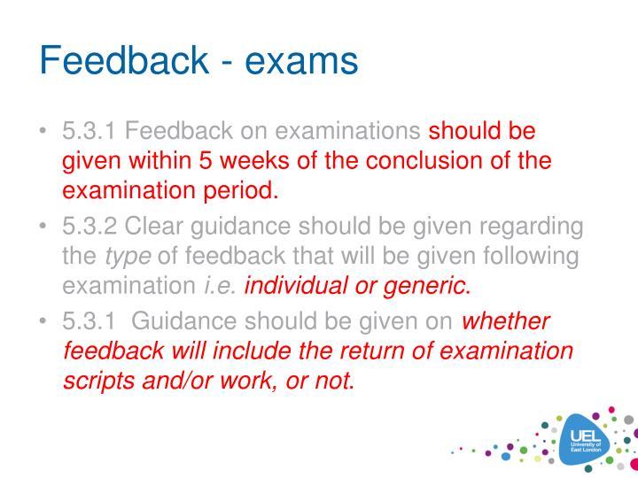 Feedback - exams