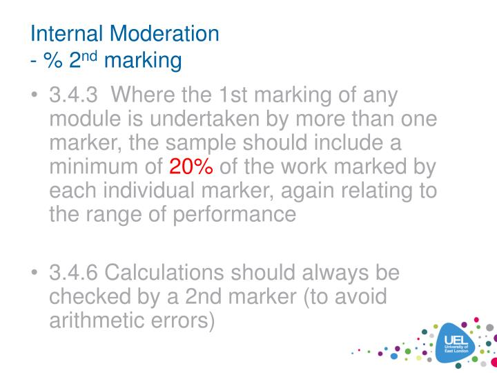 Internal Moderation