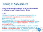 timing of assessment1