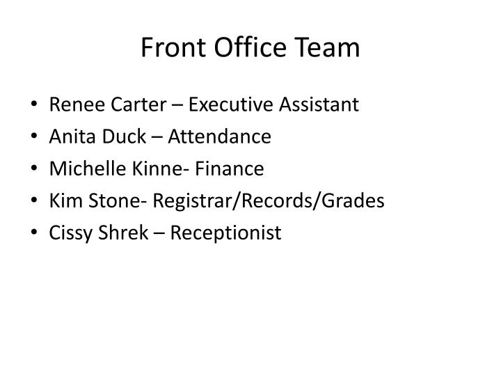 Front Office Team
