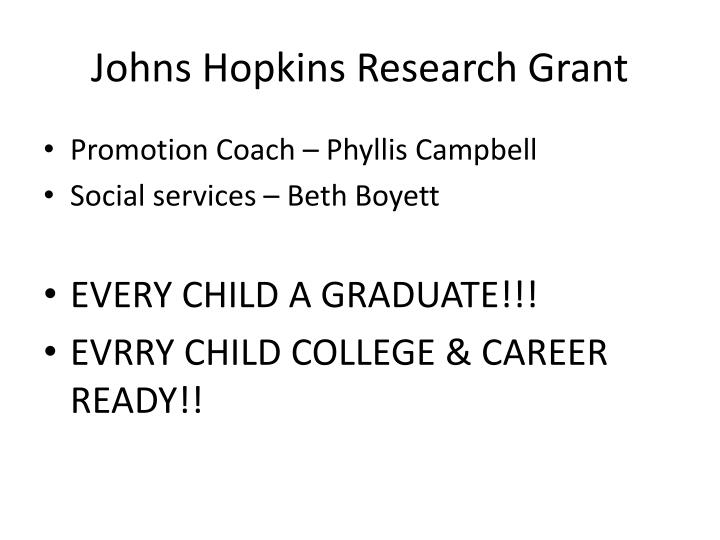 Johns Hopkins Research Grant
