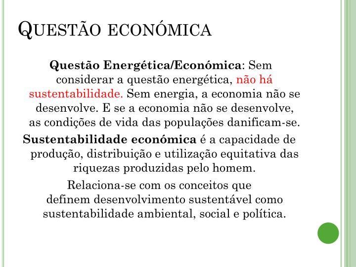 Questão económica