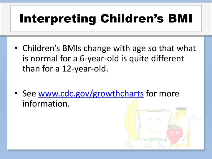 Interpreting Children's BMI