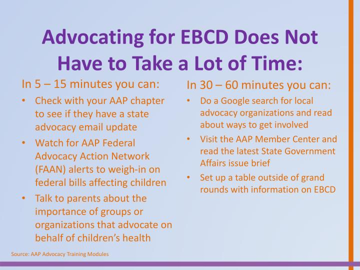 Advocating for EBCD Does Not