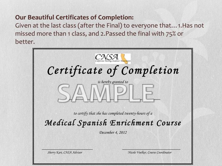 Our Beautiful Certificates