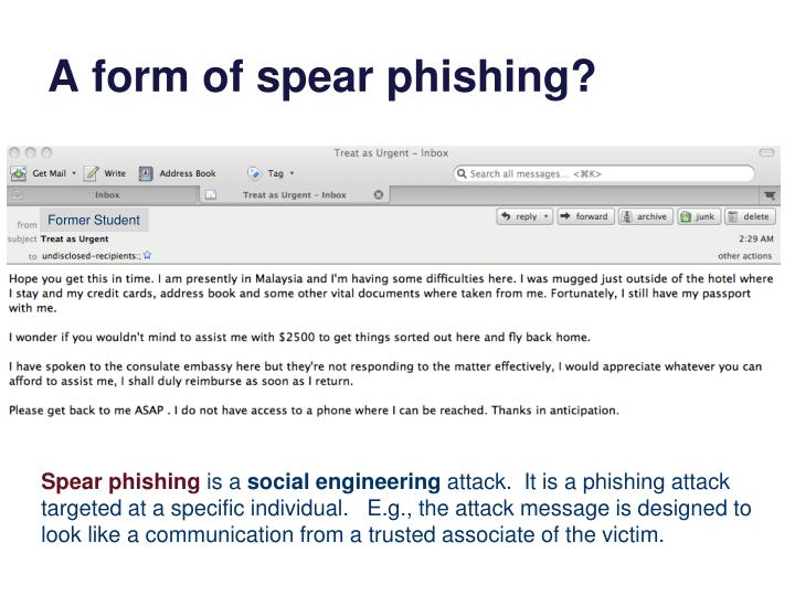 A form of spear phishing?