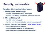 security an overview