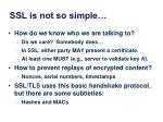 ssl is not so simple