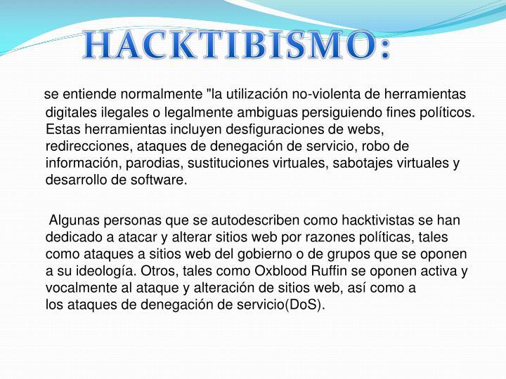 HACKTIBISMO: