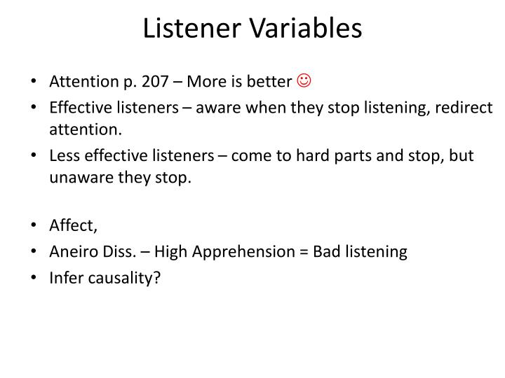 Listener Variables