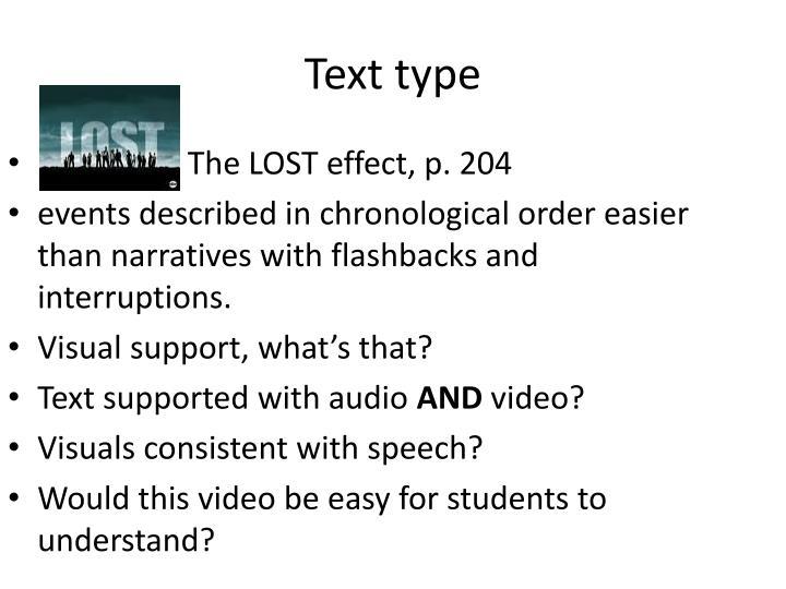 Text type