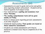 assessments sbg