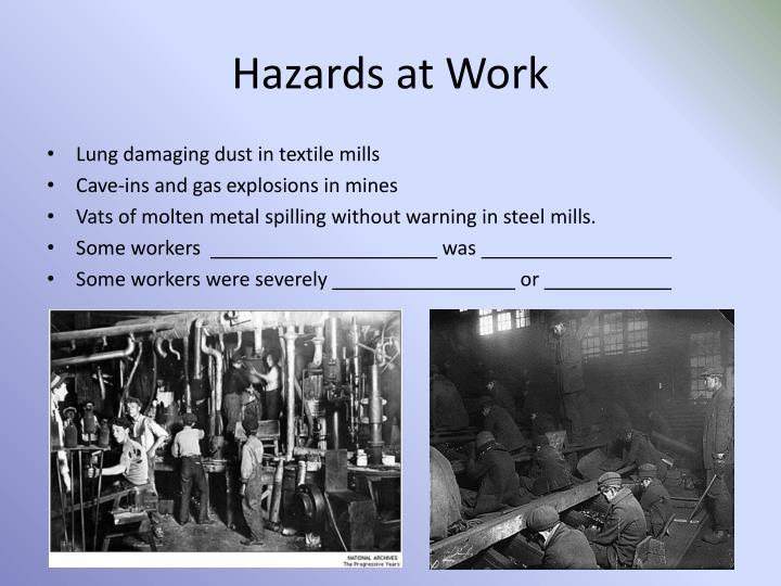 Hazards at Work