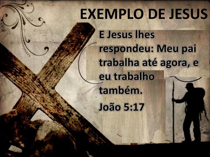 EXEMPLO DE JESUS