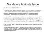 mandatory attribute issue