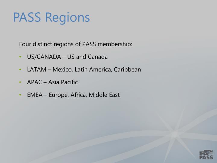 PASS Regions