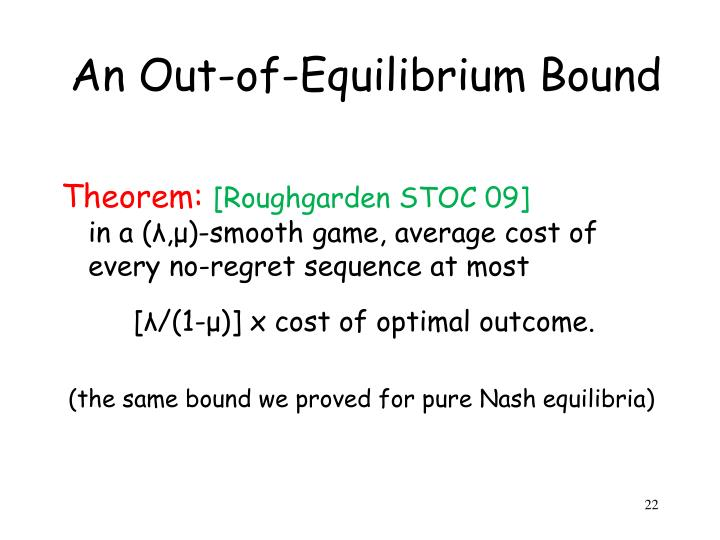 An Out-of-Equilibrium Bound