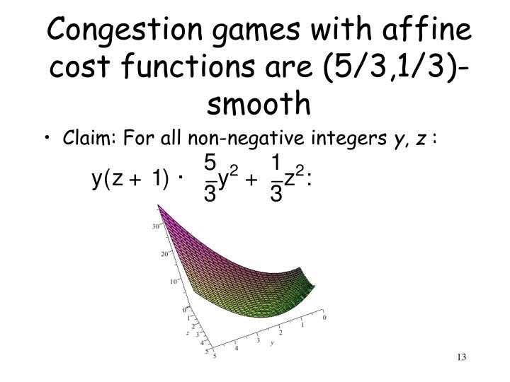 Congestion games with affine cost functions are