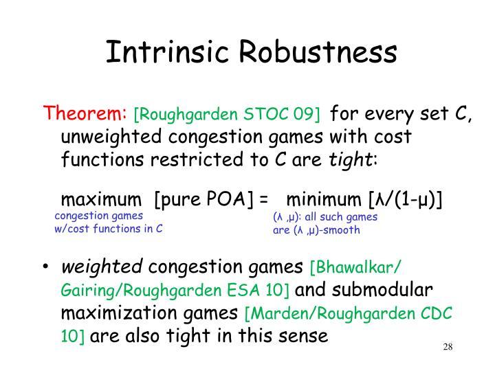 Intrinsic Robustness