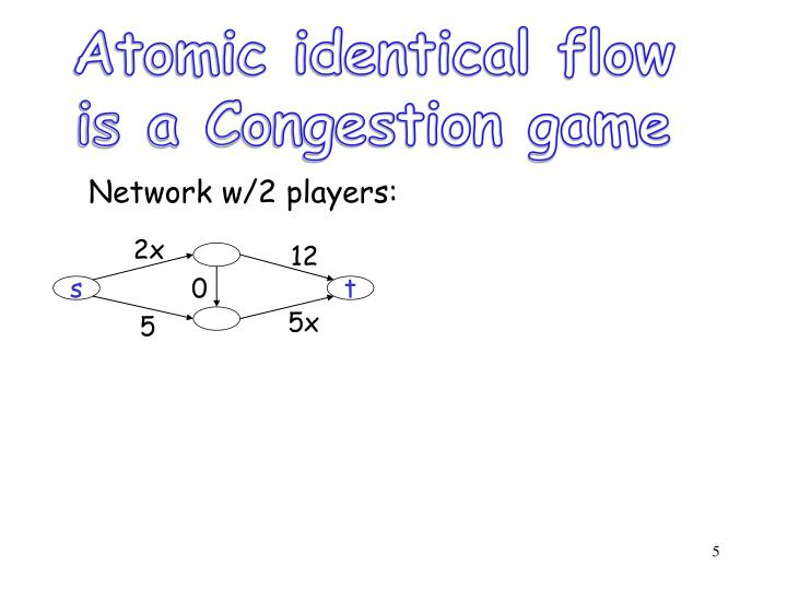 Atomic identical flow