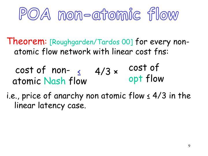 POA non-atomic flow