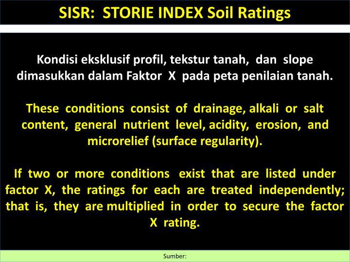 SISR:  STORIE INDEX Soil Ratings