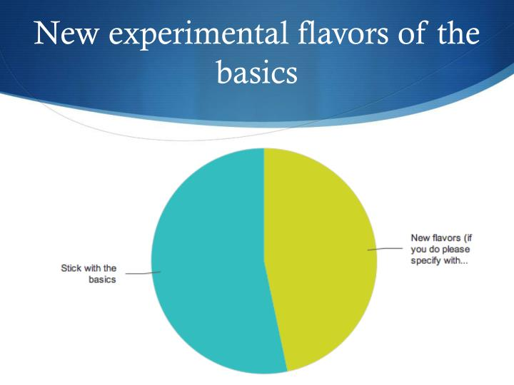 New experimental flavors of the basics