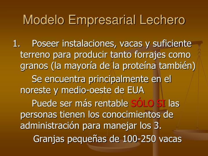 Modelo Empresarial Lechero
