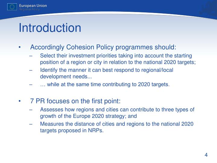 Accordingly Cohesion Policy programmes should: