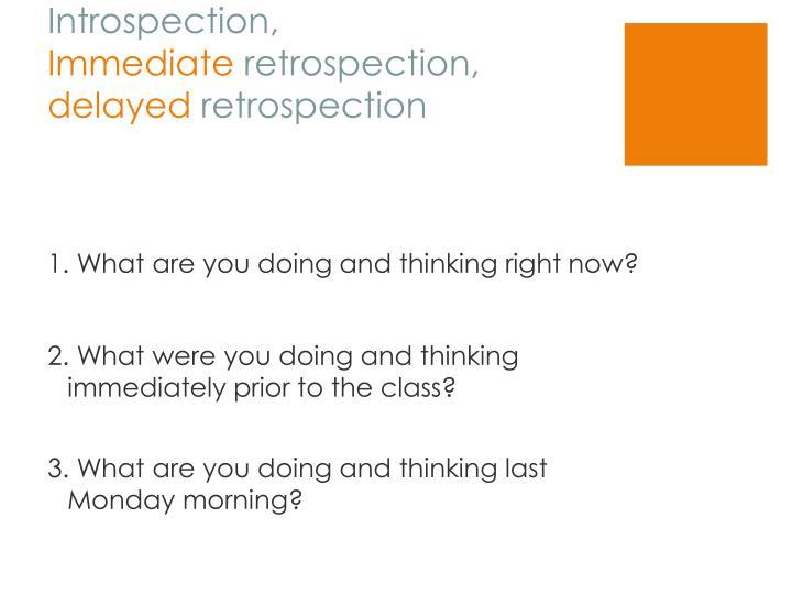 Introspection,