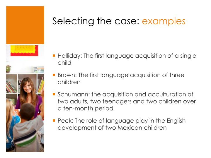 Selecting the case: