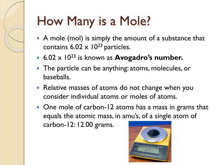 How Many is a Mole?