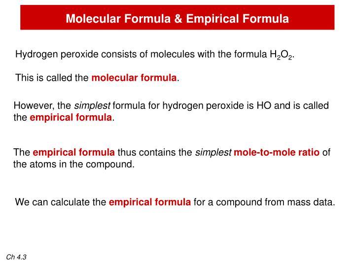 Molecular Formula & Empirical Formula