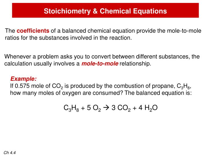 Stoichiometry & Chemical Equations
