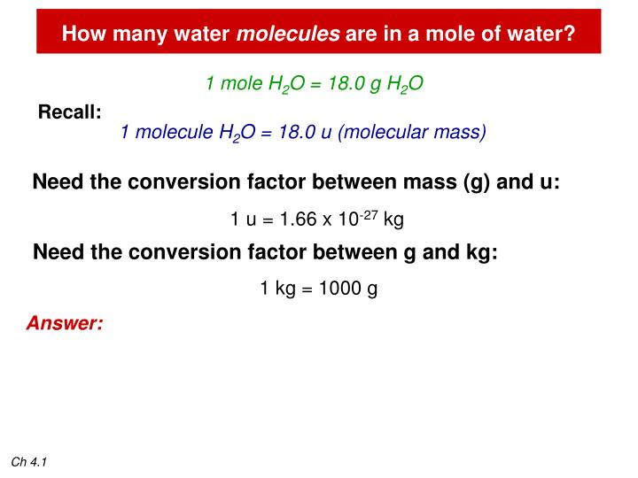 How many water