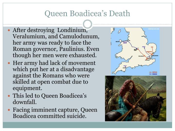 Queen Boadicea's Death