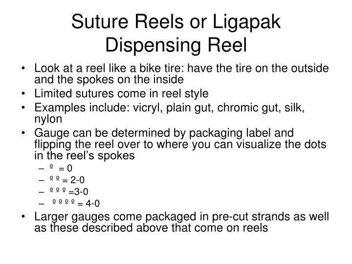 Suture Reels or Ligapak Dispensing Reel